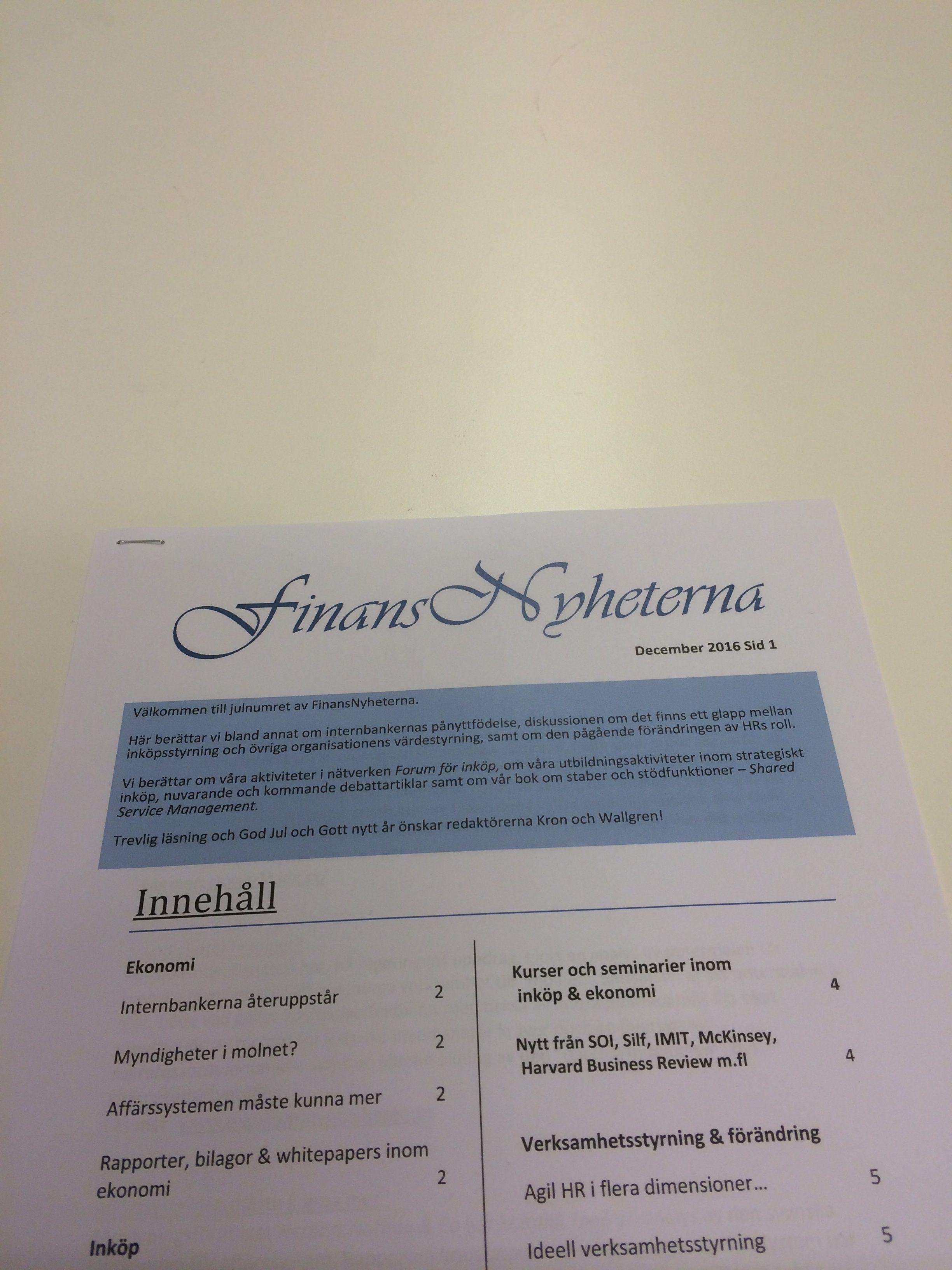 FinansNyheternas decembernummer