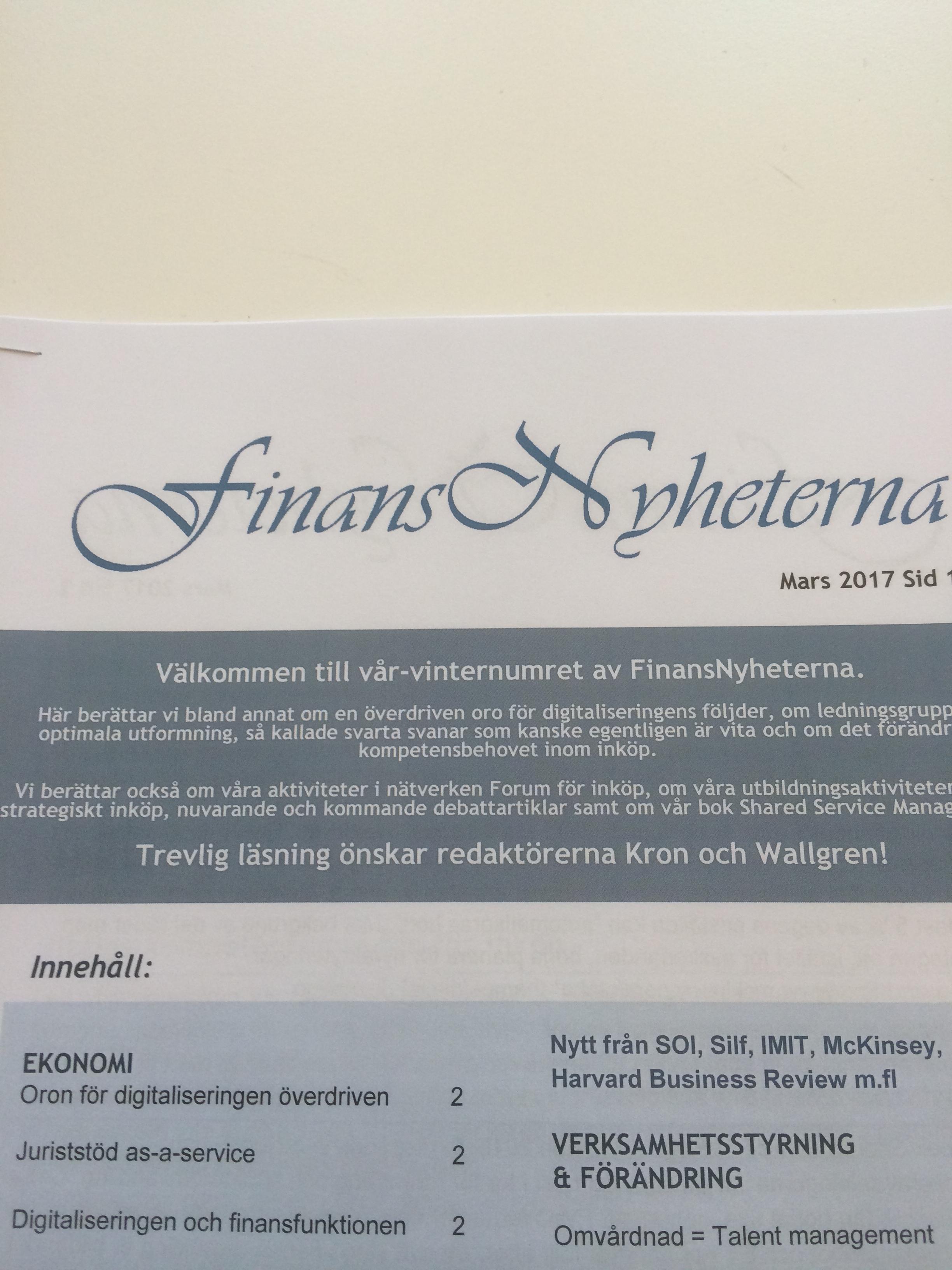 FinansNyheternas marsnummer